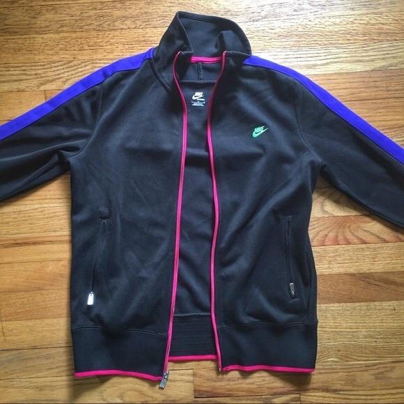 2fc4639a52 Nike Neon Jacket Black Pink Purple. M 5a9cb77946aa7c7f16dfb871